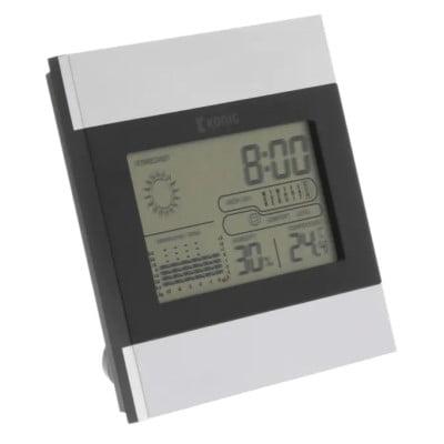 König LCD-klocka och väderstation